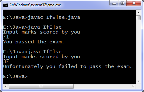 java if else program